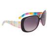 Women's Fashion Sunglasses DE81 Rainbow Patterned w/Pink Interior Frame