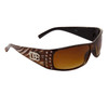 DE47 Wholesale Fashion Sunglasses Brown & White Frame Colors