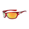 Wholesale Sports Sunglasses XS95 Metallic Red & Silver Frame w/Gold Revo Lens