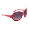 DI104 Rhinestone Sunglasses Red Frame