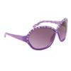 DI104 Rhinestone Sunglasses Purple Frame