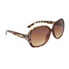 Rhinestone Sunglasses for Women DI601 Black & Brown Frame