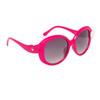 Cute Fashion Sunglasses 826 Magenta Frame w/White Button