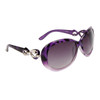 Fashion Sunglasses 809 Purple Pattern w/Silver Bow