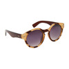 Round Sunglasses 825 Tan & Brown Striped Frame w/Brown Arms