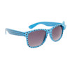 Polk-A-Dot California Classics Sunglasses 6014 Blue Frame w/Black Dots and Blue Bow