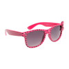Polk-A-Dot California Classic Sunglasses 6014 Hot Pink Frame w/Black Dots and Hot Pink Bow