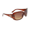 DE™ Rhinestone Sunglasses DE5006 Brown Frame