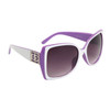 Vintage Sunglasses DE5008 White & Lavender Frame