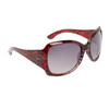Women's Animal Print Sunglasses 6037 Transparent Red Frame