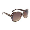 Animal Print Rhinestone Sunglasses DI6000 Cheeta Print Frame