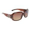 Rhinestone Sunglasses DE5009 Tortoise Frame