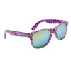 Wholesale California Classics Sunglasses by the Dozen - Style # 830 Purple with Flash Mirror