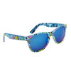 Wholesale California Classics Sunglasses by the Dozen - Style # 830 Blue with Blue Flash Mirror