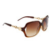Wholesale Designer Sunglasses by the Dozen- Style # DE722 Brown w/Gold