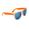 California Classics Sunglasses 8029 Orange with Blue Flash Mirror Lens
