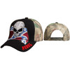 Wholesale Rebel Cap w/Skull C6005