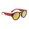 Lady Gaga Fashion Wholesale Sunglasses - Style #34015 Black/Read w/Gold Revo