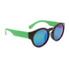 Lady Gaga Fashion Wholesale Sunglasses - Style #34015 Black/Green w/Blue Revo