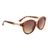 Women's Round Lens Fashion Sunglasses - Style #6125 Tortoise