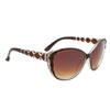 Diamond™ Eyewear Cat Eye Sunglasses with Rhinestones DI6013 Brown