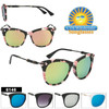 Wholesale Mirrored Retro Fashion Sunglasses - Style #6146