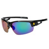 Sports Sunglasses in Bulk - Style XS7050 Black/Blue-Green