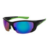 Xsportz™ Sports Sunglasses Wholesale  - Style XS8009 Black/Green