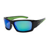 Polarized Xsportz™ Wholesale Sunglasses  - Style XS8010 Black/Green