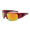 Sports Sunglasses by the Dozen - Style XS8004 Red/Gold
