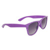 Polka Dot Wholesale Wayfarer Sunglasses with Purple Frames and White Dots Item # 25812