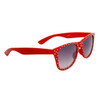 Polka Dot Wholesale Wayfarer Sunglasses with Red Frames and White Dots Item # 25812