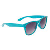 Polka Dot Wholesale Wayfarer Sunglasses with Teal Blue Frames and Black Dots Item # 25812