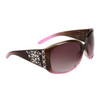 Women's Fashion Sunglasses by the Dozen - Style # DI530 Brown/Lavender