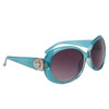 Diamond Eyewear Fashion Sunglasses for Women DI111 Transparent Blue Frame Color