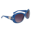 Hearts & Rhinestones Diamond Eyewear Sunglasses DI113 Blue Frame