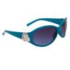 Heart Accent Diamond Eyewear with Rhinestones DI119 Dark Turquoise Frame