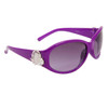 Heart Accent Diamond Eyewear with Rhinestones DI119 Purple Frame