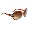 Women's Rhinestone Sunglasses by the Dozen DI123  Brown