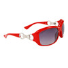 DE102 Women's Wholesale Fashion Sunglasses Red Frame Color