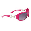 DE102 Women's Wholesale Fashion Sunglasses Magenta Frame Color