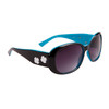 DE™ Fashion Sunglasses by the Dozen - Style #DE115 Gloss Black with Blue