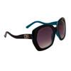 Vintage Big Lens Designer Eyewear DE104 | Two Toned Black & Blue Frame Colors