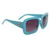 Designer Eyewear Fashion Sunglasses DE107 Light Blue Frame Color