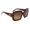 Designer Eyewear Fashion Sunglasses DE107 Brown Frame Color