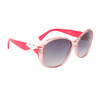 Women's Fashion Sunglasses Wholesale 21015 Red & Clear Frame w/White Bow
