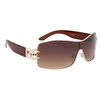 DE™ Designer Eyewear Sunglasses Wholesale - Style #DE18 Translucent Brown