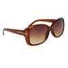 Fashion Wholesale Sunglasses 24313 Transparent Brown Frame Color