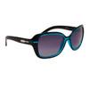 Designer Sunglasses for Ladies 23214 Black & Blue Frame Color