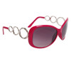 Designer Sunglasses Wholesale 24716 Gloss Rose Frame Color w/Silver